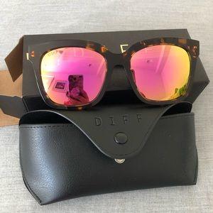 Diff Bella Sunglasses Pink Tortoiseshell NWT